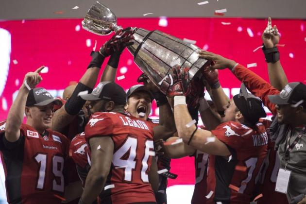 Television audience for Sunday's Grey Cup was 14 per cent lower than last year's.