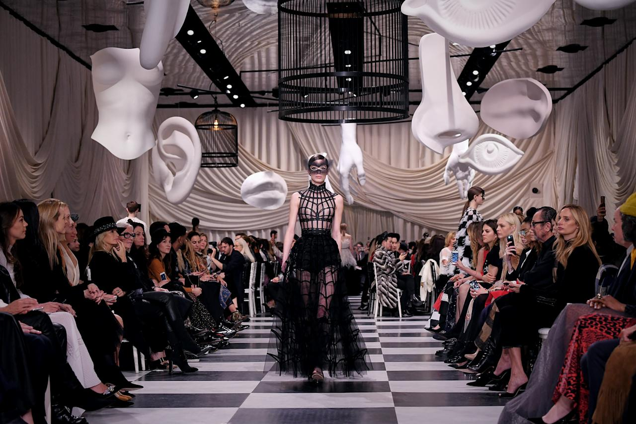 <p>Dior's surrealist-themed haute couture runway show was set at Musée Rodin in Paris. (Photo: Getty) </p>