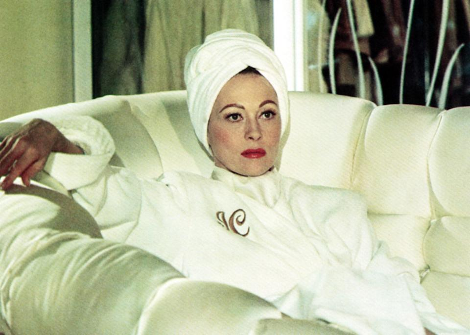 """<p><em>Mommie Dearest</em> is based on a 1978 memoir written by Christina Crawford, in which she accuses her adopted mother, Joan Crawford, of years of physical and mental abuse. Naturally, the book gained a ton of attention, which led to a film adaptation starring Faye Dunaway as the actor. The movie was an instant commercial success—and in the years following, it's become a cult classic thanks to Dunaway's over-the-top performance.</p> <p><em>Available to rent on</em> <a href=""""https://www.amazon.com/MOMMIE-DEAREST/dp/B0018PDHP6/ref=atv_dl_rdr"""" rel=""""nofollow noopener"""" target=""""_blank"""" data-ylk=""""slk:Amazon Prime Video"""" class=""""link rapid-noclick-resp""""><em>Amazon Prime Video</em></a><em>.</em></p>"""