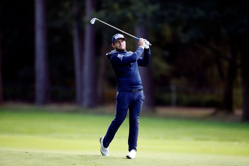 England's Hatton shares lead at Wentworth