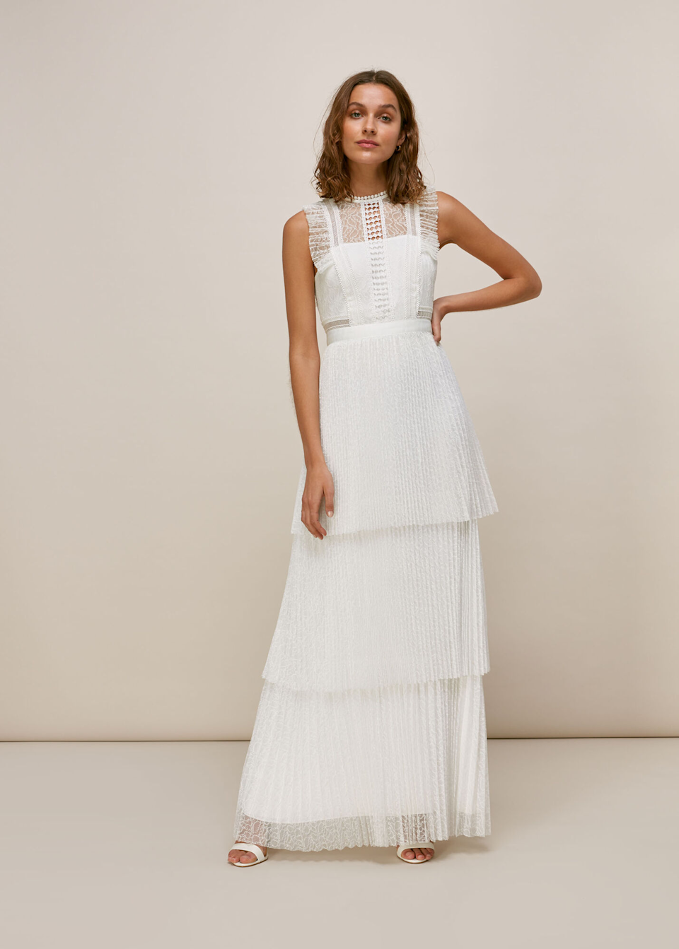 """<h2><a href=""""https://www.whistles.com/wedding/dresses/"""" rel=""""nofollow noopener"""" target=""""_blank"""" data-ylk=""""slk:Whistles"""" class=""""link rapid-noclick-resp"""">Whistles</a></h2><br>Contemporary brand Whistles — frequently worn by Kate Middleton — launched bridal dresses four years ago. Ever since then, brides have flocked to this high-street favorite for an affordable selection of modern styles that range from ethereal to minimal."""