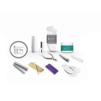 """<h3>Footnanny 10 Wellness Kit</h3><br>Sure, you're probably just at home, but don't neglect your feet, folks. This at-home pedicure kit has <em>everything</em> you need (down to the flip flops) to get your toes looking brand new.<br><br><strong>Footnanny</strong> 10 Wellness Kit, $, available at <a href=""""https://go.skimresources.com/?id=30283X879131&url=https%3A%2F%2Fwww.bedbathandbeyond.com%2Fstore%2Fproduct%2Ffootnanny-10-wellness-kit%2F1060304834%3Fkeyword%3Dnail-kits"""" rel=""""nofollow noopener"""" target=""""_blank"""" data-ylk=""""slk:Bed Bath and Beyond"""" class=""""link rapid-noclick-resp"""">Bed Bath and Beyond</a>"""