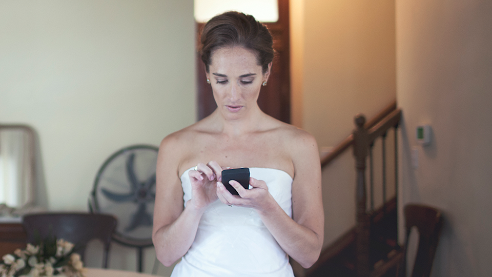 Bride text message sister angry