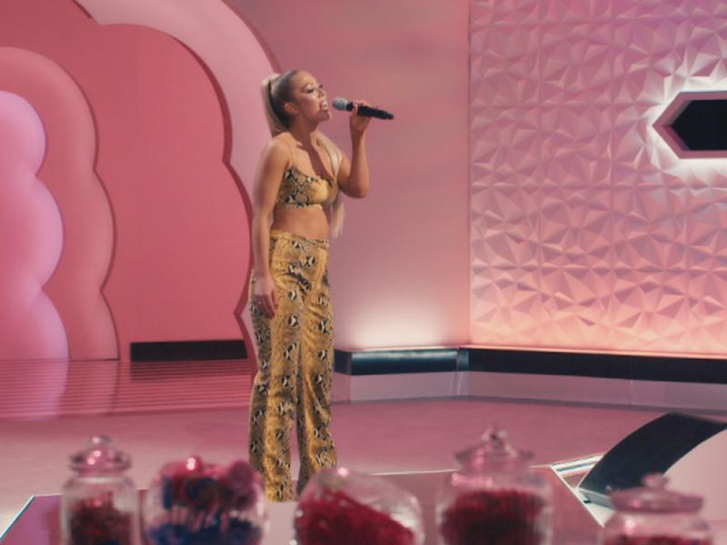 A contestant, Melina, performs on 'Little Mix: The Search' on BBC OneBBC/Modest TV