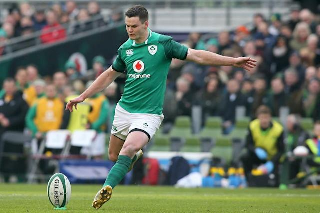 Man of the moment: Ireland fly-half Jonathan Sexton (AFP Photo/Paul FAITH)