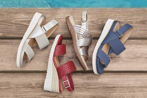 Energy return Martha Stewart x Easy Spirit sandal collection