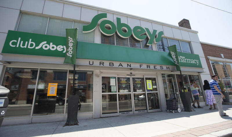 TORONTO, ON - JUNE 26 -Grocer Sobeys Inc. is set to announce on Thursday that it is closing underperforming stores and cutting jobs, including this store at Front St. and Sherbourne St., following its $5.8-billion acquisition of rival Safeway Canada as it looks for savings in an intensifying food fightJune 26, 2014. (Bernard Weil/Toronto Star via Getty Images)
