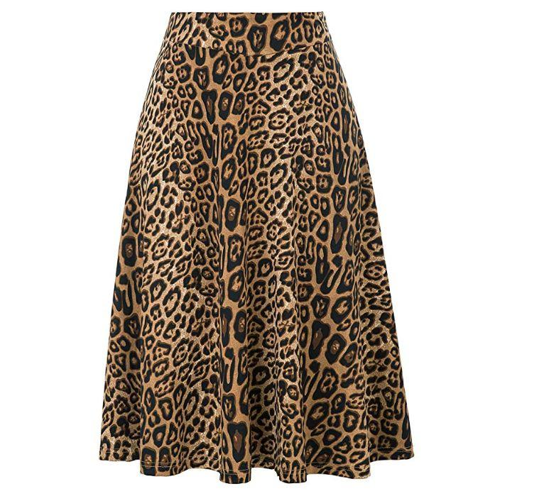 """<strong><a href=""""https://www.amazon.com/Kate-Kasin-Stretchy-Leopard-Pleated/dp/B07RDDSCG8/ref?tag=thehuffingtop-20&amp;th=1&amp;psc=1"""" target=""""_blank"""" rel=""""noopener noreferrer"""">Find it for $19 on Amazon</a></strong>"""