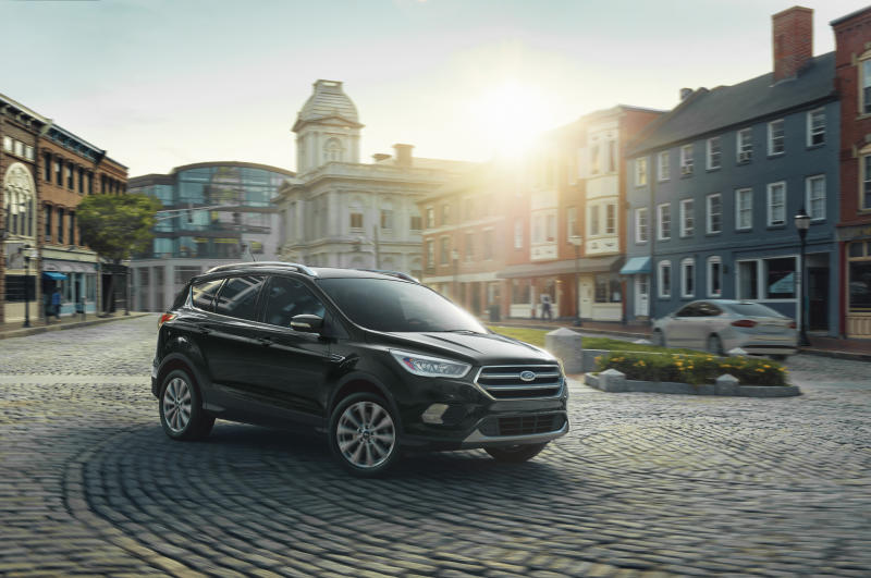 This undated photo provided by Ford shows the 2019 Ford Escape, a compact SUV that offers an average savings of about $3,177 over the redesigned 2020 model. (Ford Motor Co. via AP)