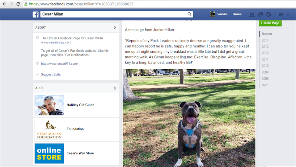 Image Credit: Cesar Millan's Official Facebook Page
