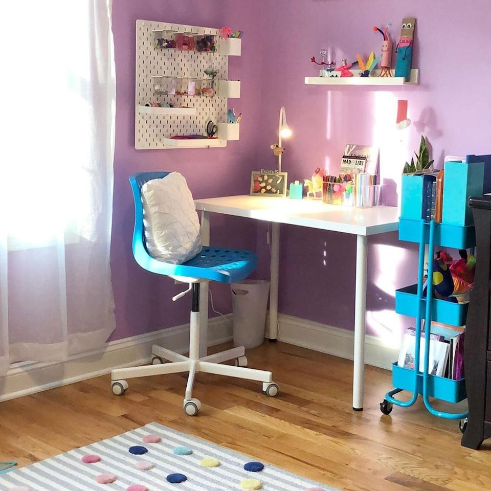 """<p>Your kid is <a href=""""https://www.bestproducts.com/lifestyle/g1804/school-supplies-list/"""" target=""""_blank"""">school supply-obsessed</a> and probably has a million different doo-dads. Keep their thumbtacks, staples, art supplies, and favorite pens organized with a peg board. They can customize the containers and shelves to suit their needs and style.</p><p><a class=""""body-btn-link"""" href=""""https://www.amazon.com/Pegboard-Organizer-Nursery-Storage-Accessories/dp/B07XZ4D9PJ?tag=syn-yahoo-20&ascsubtag=%5Bartid%7C2089.g.33457305%5Bsrc%7Cyahoo-us"""" target=""""_blank"""">Shop Peg Board</a><br></p>"""