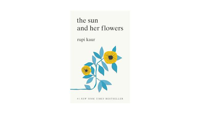 "<p>Book by Rupi Kaur, $7, <a href=""https://www.amazon.com/Sun-Her-Flowers-Rupi-Kaur/dp/1449486797/ref=sr_1_1?ie=UTF8&qid=1511808484&sr=8-1&keywords=rupi+kaur"" rel=""nofollow noopener"" target=""_blank"" data-ylk=""slk:amazon.com"" class=""link rapid-noclick-resp"">amazon.com</a> </p>"