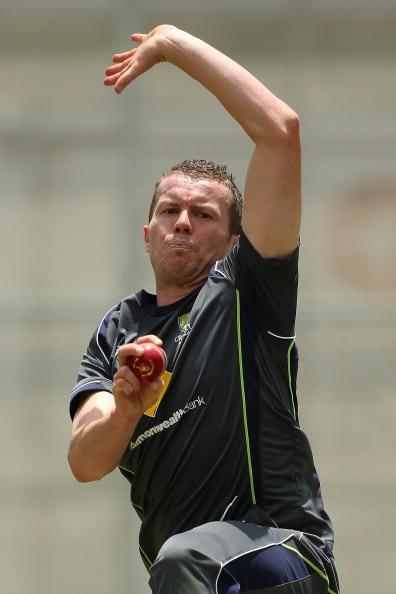 BRISBANE, AUSTRALIA - NOVEMBER 07:  Peter Siddle bowls during an Australian nets session at The Gabba on November 7, 2012 in Brisbane, Australia.  (Photo by Chris Hyde/Getty Images)