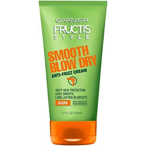 """<p><strong>Garnier</strong></p><p>amazon.com</p><p><strong>$6.83</strong></p><p><a href=""""https://www.amazon.com/dp/B01M7TXLXY?tag=syn-yahoo-20&ascsubtag=%5Bartid%7C10055.g.34620919%5Bsrc%7Cyahoo-us"""" rel=""""nofollow noopener"""" target=""""_blank"""" data-ylk=""""slk:Shop Now"""" class=""""link rapid-noclick-resp"""">Shop Now</a></p><p>This Garnier cream <strong>created to be used with hot tools is one of the GH Beauty Lab's top-tested products at the drugstore for heat protection</strong>. Added bonus: It's a strong <a href=""""https://www.goodhousekeeping.com/beauty/hair/a28186415/frizzy-hair-tips/"""" rel=""""nofollow noopener"""" target=""""_blank"""" data-ylk=""""slk:frizz fighter"""" class=""""link rapid-noclick-resp"""">frizz fighter</a>, too. In the Lab's <a href=""""https://www.goodhousekeeping.com/beauty-products/g35293459/best-anti-frizz-hair-products/"""" rel=""""nofollow noopener"""" target=""""_blank"""" data-ylk=""""slk:anti-frizz styling product"""" class=""""link rapid-noclick-resp"""">anti-frizz styling product</a> test, the formula scored well for taming frizz throughout the day without leaving hair feeling sticky or greasy. </p>"""