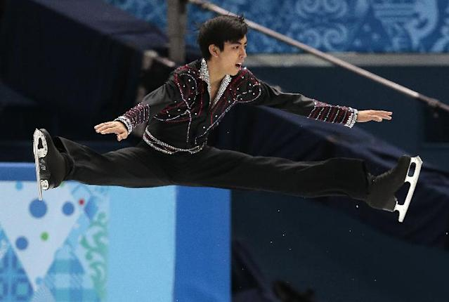 Michael Christian Martinez of the Philippines competes in the men's free skate figure skating final at the Iceberg Skating Palace during the 2014 Winter Olympics, Friday, Feb. 14, 2014, in Sochi, Russia