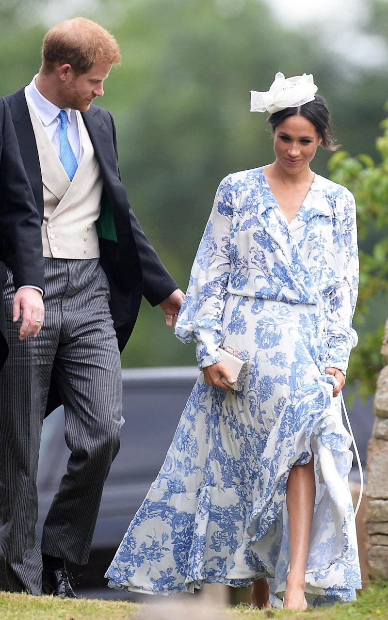 The Duke and Duchess of Sussex at the wedding of Celia McCorquodale and George Woodhouse on 16th June - GEOFF ROBINSON PHOTOGRAPHY