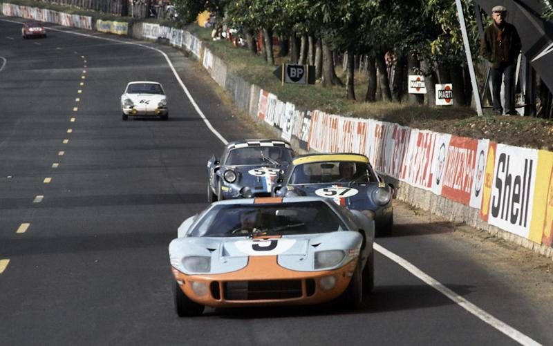 The 2018 dinner celebrates the famous Gulf-liveried Ford GT40's win at the 1968 Le Mans 24 Hours - Rex Features