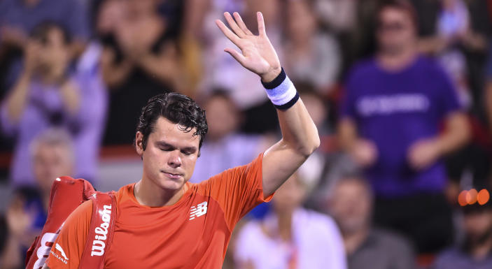 A glute injury will keep Milos Raonic out of this week's US Open. (Photo by Minas Panagiotakis/Getty Images)