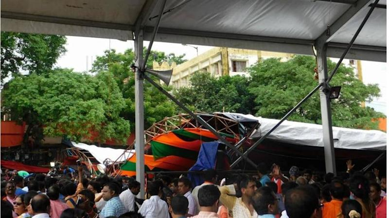 WB: Tent collapses during PM