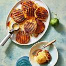 """<p>A little bit of coconut sugar, cinnamon and cardamom turn the tropical fruit into a mouthwatering treat. Serve with <a href=""""https://www.goodhousekeeping.com/food-products/g32032886/best-dairy-free-ice-cream-brands/"""" rel=""""nofollow noopener"""" target=""""_blank"""" data-ylk=""""slk:vegan vanilla ice cream"""" class=""""link rapid-noclick-resp"""">vegan vanilla ice cream</a>, of course.</p><p><em><a href=""""https://www.goodhousekeeping.com/food-recipes/dessert/a31915070/grilled-pineapple-recipe/"""" rel=""""nofollow noopener"""" target=""""_blank"""" data-ylk=""""slk:Get the recipe for Grilled Pineapple »"""" class=""""link rapid-noclick-resp"""">Get the recipe for Grilled Pineapple »</a></em></p>"""