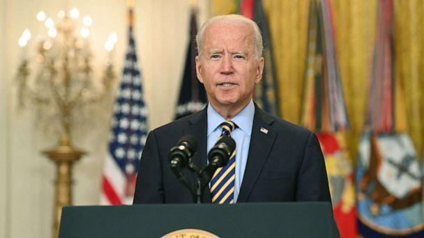 PHOTO: President Joe Biden speaks about the situation in Afghanistan from the East Room of the White House, July 8, 2021. (Saul Loeb/AFP via Getty Images)