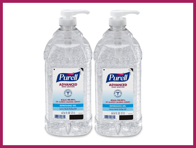 Purell Advanced Hand Sanitizer Refreshing Gel for Workplaces, two-liter (two-pack). (Photo: Amazon)