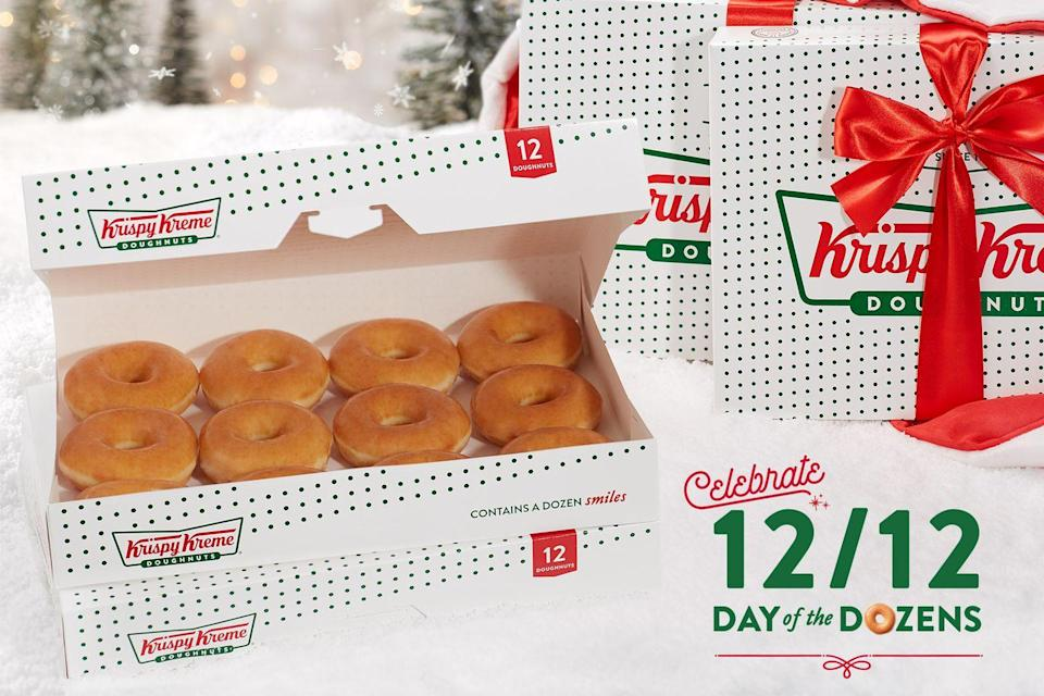 <p>Kick off your Turkey Day with a dozen donuts from Krispy Kreme. Stay tuned to find out what fun holiday-themed flavors they have this year.</p>