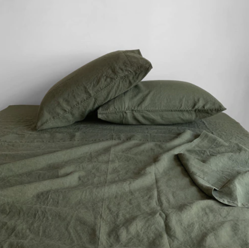 """<p><strong>Linoto</strong></p><p>linoto.com</p><p><strong>$269.00</strong></p><p><a href=""""https://www.linoto.com/100-linen-sheet-sets"""" rel=""""nofollow noopener"""" target=""""_blank"""" data-ylk=""""slk:BUY NOW"""" class=""""link rapid-noclick-resp"""">BUY NOW</a></p><p>Handcrafted in Westchester County, New York, these linen sheets offer quality without compromise. They're pre-washed in non-toxic, non-petroleum-based biodegradable laundry soap. And if you're not impressed, there's a 30-day money-back guarantee.</p>"""