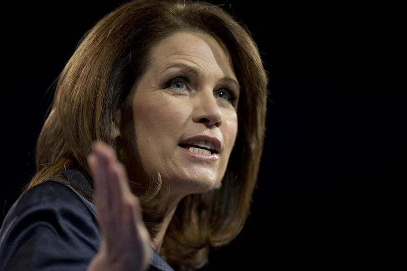 FILE - In this March 16, 2013 file photo, Rep. Michele Bachmann, R- Minn., speaks at the 40th annual Conservative Political Action Conference in National Harbor, Md. Bachmann said Wednesday, May 29, 2013, that she will not run for re-election in 2014. (AP Photo/Carolyn Kaster)