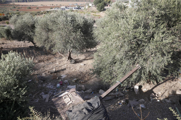 Palestinian fugitive Zakaria Zubeidi's hideouts in Umm al Ghanam, northern Israel, Saturday, Sept. 11, 2021. Following Zubeidi's arrest, police said they have caught four of six Palestinians who broke out of a maximum-security prison early this week. (AP Photo/Ariel Schalit)