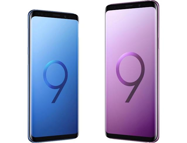 The Galaxy S9 and S9 Plus are less expensive if you buy them directly from Samsung.