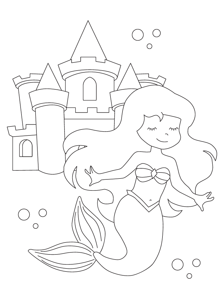 10 Too-Cute Mermaid Coloring Pages