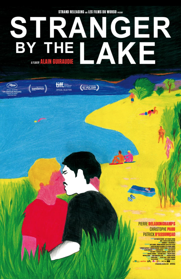 """<p>Alain Guiraudie's <em>Stranger by the Lake </em>features a nude beach, sexual passion, a drowning, and more passion. As with <em>Basic Instinct</em> it works just as well as a thriller—with, at its rapidly beating heart, a lot of artful sex. Guiraudie took home the director's award at Cannes for this gem. </p><p><a class=""""link rapid-noclick-resp"""" href=""""https://www.amazon.com/Stranger-English-Subtitled-Pierre-Deladonchamps/dp/B00K0CCKGK/ref=sr_1_1?dchild=1&keywords=Stranger+by+the+Lake&qid=1622131794&s=instant-video&sr=1-1&tag=syn-yahoo-20&ascsubtag=%5Bartid%7C2139.g.36530740%5Bsrc%7Cyahoo-us"""" rel=""""nofollow noopener"""" target=""""_blank"""" data-ylk=""""slk:STREAM IT HERE"""">STREAM IT HERE</a></p>"""