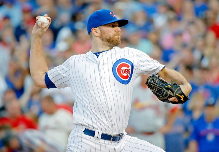 Cubs closer Wade Davis has been a key addition. They'll need his success to continue in the postseason. (Getty Images)