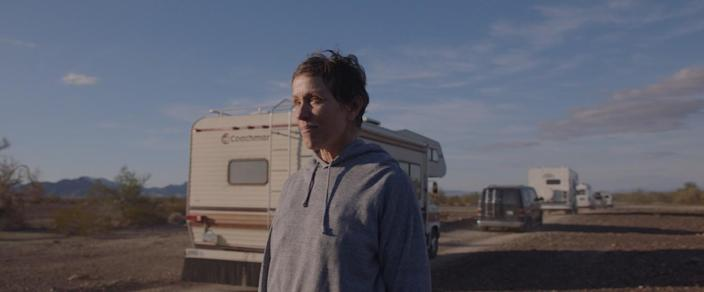"""In """"Nomadland,"""" Frances McDormand's character Fern finds home on the road."""