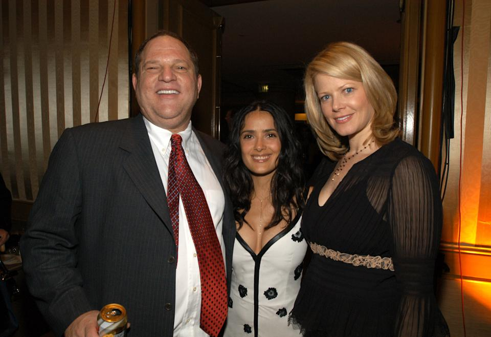 Harvey Weinstein, Salma Hayek, and wife during Miramax 2003 MAX Awards - Inside at St. Regis Hotel in Los Angeles, California, United States. (Photo by KMazur/WireImage)