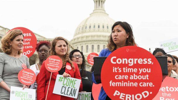 PHOTO: Rep. Grace Meng speaks at a Women's Voices for the Earth's women's health rally supported by Seventh Generation on the grounds of the Capitol on May 23, 2017, in Washington. (Kevin Wolf/AP Images For Seventh Generation, FILE)