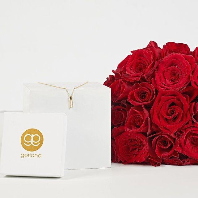 <p>This <span>The Bouqs Co Love Shines Gift Set</span> ($119) is the perfect all-in-one gift. It includes red roses and a pretty Gorjana necklace. You can't go wrong.</p>