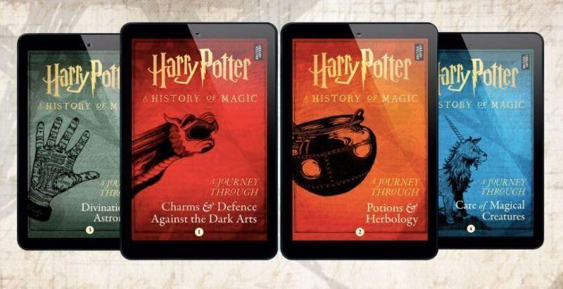 The 'Journey Through...' ebooks, adapted from 'Harry Potter: A History of Magic,' are available for pre-order. Photo: Pottermore Publishing