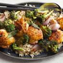 <p>This one-pan chicken and broccoli dinner is simple, healthy and packed with flavor. After the chicken roasts, we turn the drippings into a smooth and velvety pan sauce by adding a little stock and butter.</p>