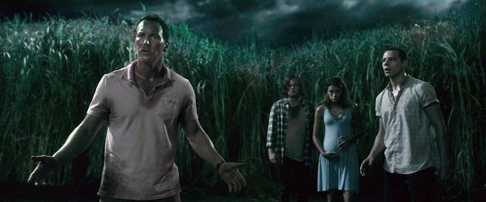 """<p>The siblings in <strong>A Quiet Place</strong> have a beautiful bond that helps them when they're faced with the harsh realities of the world they live in. However, <strong>In the Tall Grass</strong> features a pair of siblings who aren't at all prepared for the horrors that await them when they enter a grassy field to help a little boy in this film based on a novella by Stephen King and Joe Hill. </p> <p><a href=""""https://www.netflix.com/watch/80237905"""" class=""""link rapid-noclick-resp"""" rel=""""nofollow noopener"""" target=""""_blank"""" data-ylk=""""slk:Watch In the Tall Grass on Netflix."""">Watch <strong>In the Tall Grass</strong> on Netflix.</a></p>"""