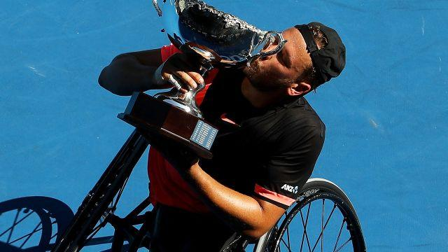 Alcott won his fourth-straight Aus Open. Image: Getty