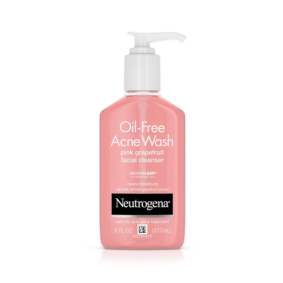 """<p>It's a classic for a reason. Salicylic acid treats current blemishes in a few days and helps quell any future breakouts. The fruity, refreshing scent doesn't hurt, either.</p> <p>$7 (<a rel=""""nofollow"""" href=""""https://amzn.to/2Hyrvy5"""" rel=""""nofollow"""">Shop Now</a>)</p>"""