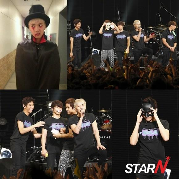 FTISLAND presented a surprise Halloween performance during their concert