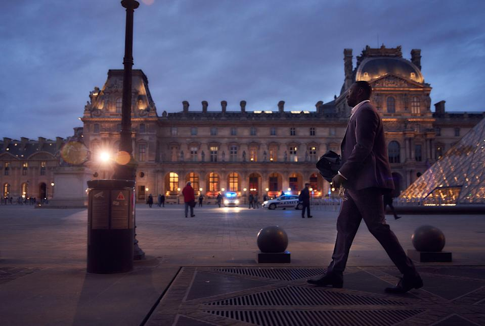 Omar Sy and the show's crew had less than 40 hours to film during the Louvre's Tuesday closures.
