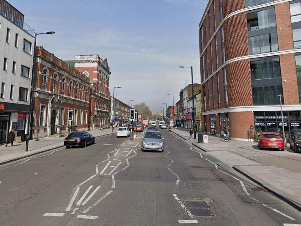 A 14-year-old boy has been found stabbed to death after police were called to Barking Road in Newham, east London (Google street view)