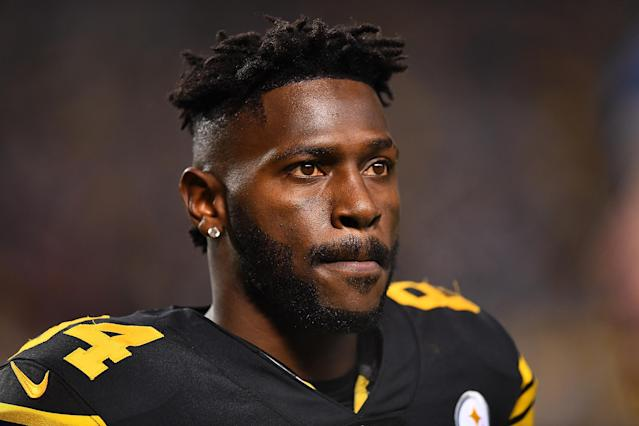 No-show: Steelers' WR Antonio Brown didn't show for a Tuesday morning court hearing. (Getty Images)