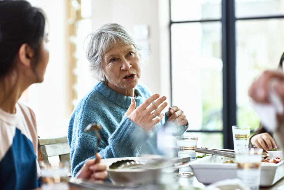 Mental health experts share how to discuss the election with relatives without it getting heated. (Photo: Getty Creative stock photo)