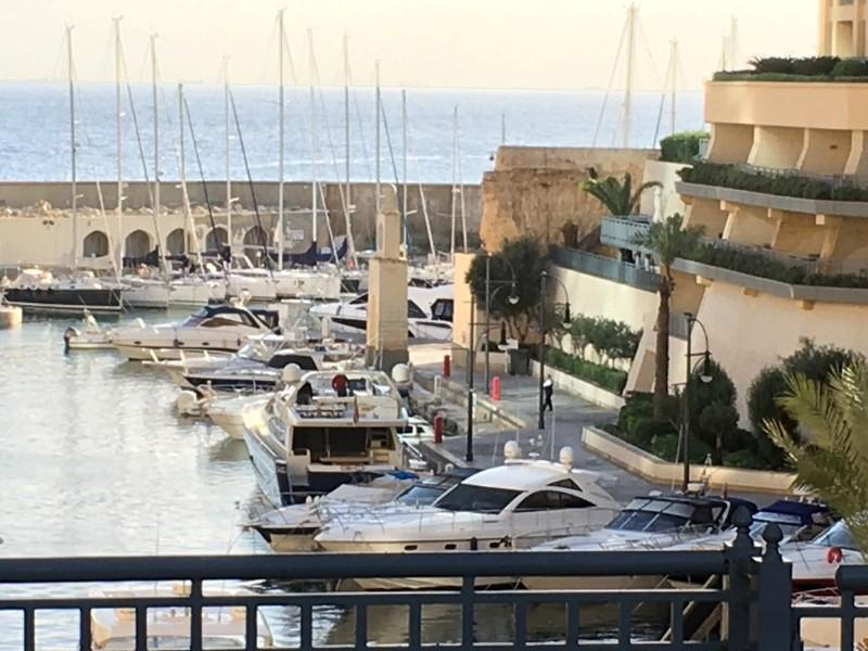 A view of the Portomaso port where a yacht, which is believed to have been intercepted by Maltese police to arrest prominent businessman Yorgen Fenech in connection with an investigation into the murder of journalist Daphne Caruana Galizia, according to so