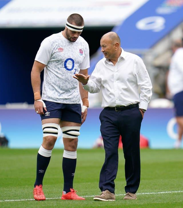 Lewis Ludlow, left, was selected to captain England during the summer series by head coach Eddie Jones